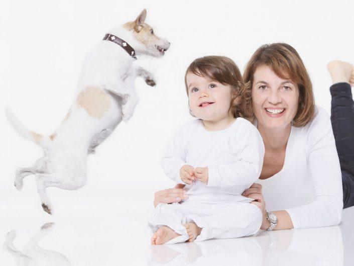 mutter kind und hund