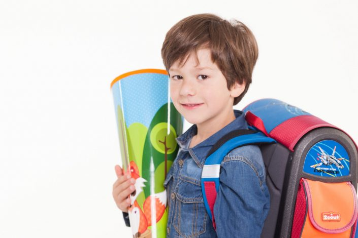 """""""Mein Erster Schultag"""" mit  Schultüte und Schulranzen"""